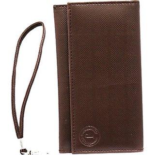 Jojo Wallet Case Cover for HP Slate6 Voicetab         (Brown)