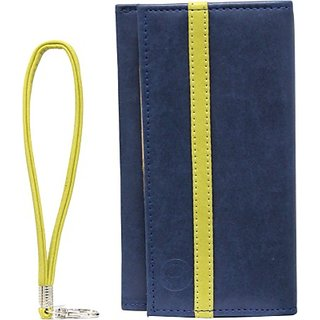 Jojo Pouch for Huawei Honor 3C 4G         (Dark Blue, Parrort Green)