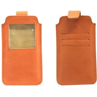 Jo Jo Pouch for Intex Aqua i14         (Orange)