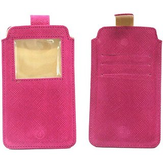 Jo Jo Pouch for Lenovo Golden Warrior A8         (Exotic Pink)