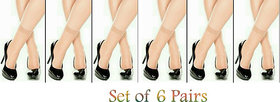 Ultra Thin Transparent Skin Color Socks/Stockings - Pack of 6 pairs