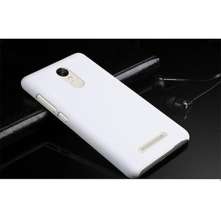 High Quality Premium Matte Finish Hard Back Case Cover For Lenovo K5 Note - WHITE