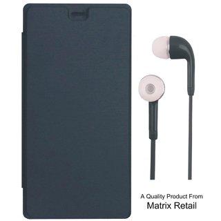 Matrix Flip Cover for Asus Zenfone 2 Laser ZE550KL 5.5 Inch with Earphones