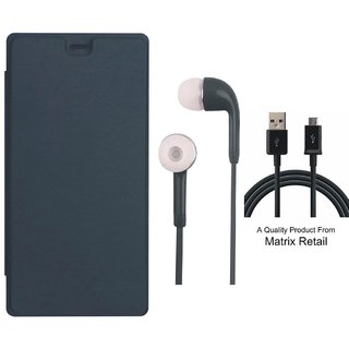 Matrix Flip Cover for Micromax Bolt Q323 with Earphones and USB Cable