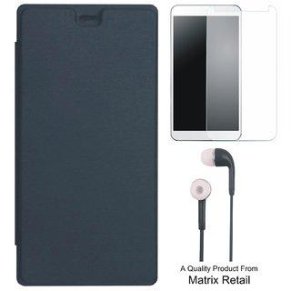 Flip Cover for novo A2010 ith Earphes and Screenguard