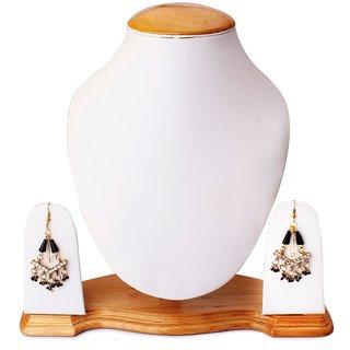 Anantika Black Bead Dangle  Drop Earrings for Women (A-300-BlackBeads)