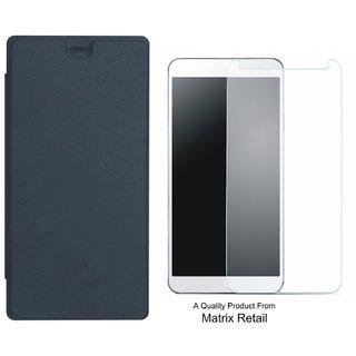 Flip Cover for x Canvas Mega 4G Q417 ith Screen Guard