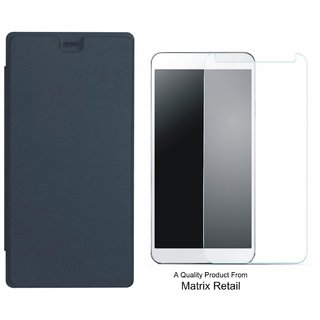 Flip Cover for x Canvas rk 2 PLUS Q350 ith Screen Guard