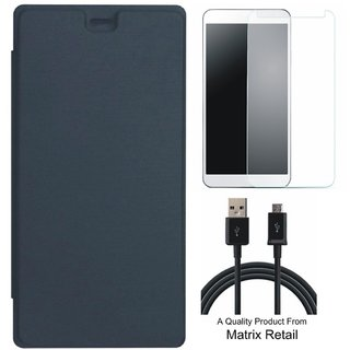 Flip Cover for novo A2010 ith Screenguard and  Data Cab