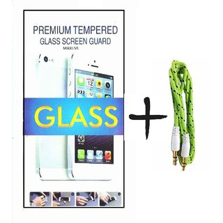 TEMPERED GLASS screen PROTECTOR FOR GIONEE P4  With Aux Cable