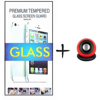 TEMPERED GLASS SCREEN PROTECTOR FOR MICROMAX Q400  With Speaker