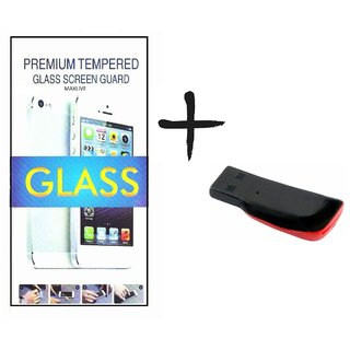 TEMPERED GLASS SCREEN PROTECTOR FOR INTEX LIFE 3  With Memory Card Reader