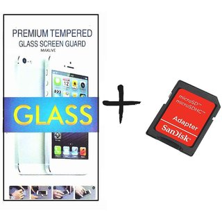 TEMPERED GLASS SCREEN PROTECTOR FOR GIONEE F105  With SD Card Adapter