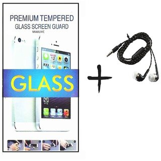 TEMPERED GLASS screen PROTECTOR FOR HTC 728  With Tarang Earphone
