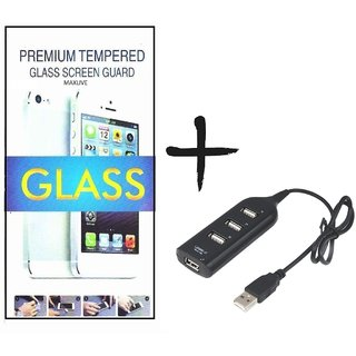 TEMPERED GLASS SCREEN PROTECTOR FOR MICROMAX A72  With USB Hub