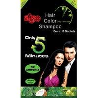 Siso Hair Color Shampoo - 15ml (Pack Of 10)