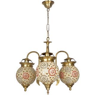 Fos Lighting Tilak Golden Globes 3 Light Small Chandelier