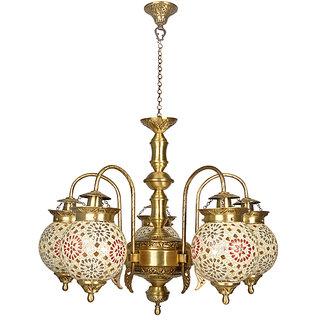 Fos Lighting Tilak Golden Globes 5 Light Chandelier