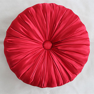 Handmade Red Cushion Decorative Pillows