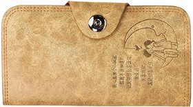 BROWN CANVAS CREDIT CARDS  MONEY WALLET FOR WOMEN (18 Card Slots CW-02)