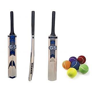 Popular Willow Tennis Ball Cricket Bat (Free Tennis Ball)