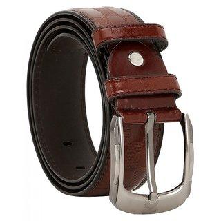 Comfort Zone Brown Textured Men's Belt