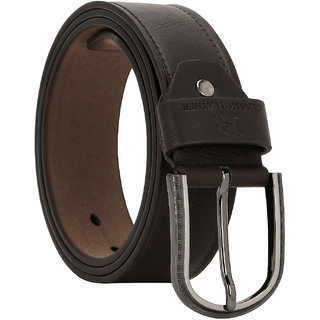 Comfort Zone Dark Brown Textured Men's Belt