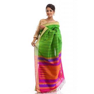 Green Handloom Soft Silk Saree