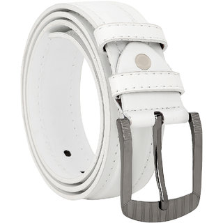 Comfort Zone White Plain Men's Belt