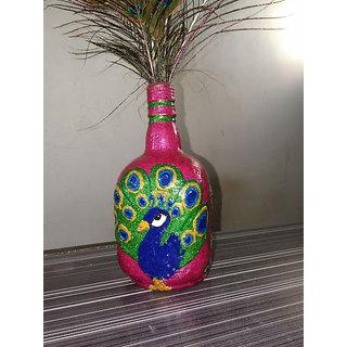Handicrafts Pure Copper Joint less Leak Proof Handicraft Decorated Water Bottle