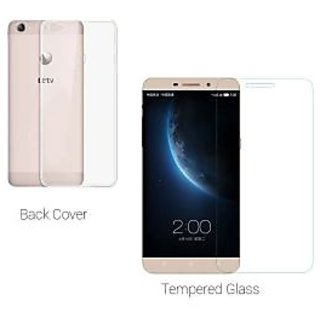 Letv Le 1s Tempered Glass Plus Transparent Back Cover Combo Le 1s Tempered Glass