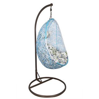 Outkraft's Hanging Chair with Stand Blue Color