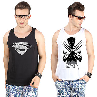 SayItLoud Men's Printed Vest Combo Pack of 2