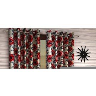 Gaurav Handloom Set of 2 Eyelet Curtain