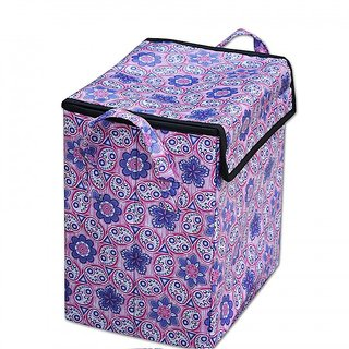 Elegance Purple Abstract  Design Laundry Box / Multipurpose Box / Organiser