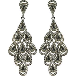 Glitters    White Stone American Diamond  Fashion Earring  Est013Wh