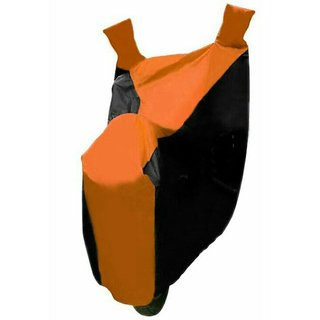 Ak Kart Black And Orange Bike Body Cover For Yamaha Fascino