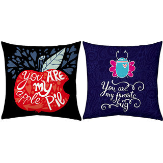 Little India Romantic Design Printed Cushions Pair 212