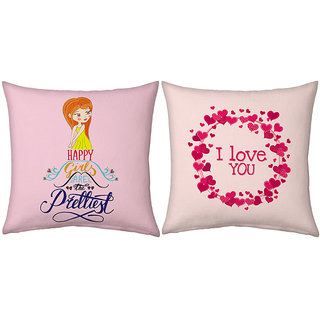 Little India Romantic Printed Soft Cushions Pair 220