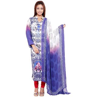 Radhya Swank Multicolour Digital Printed Pashmina Unstitched Kurti With Dupatta
