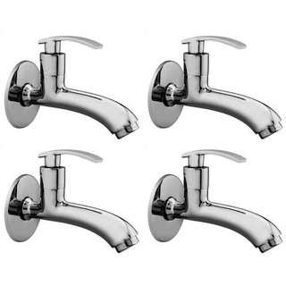 Snowbell Long Body Soft Brass Chrome Plated - Set of 4