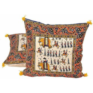 Sanganeri Handblock Printed Cushion Covers Pair 842