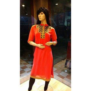 Rayon Straight Long Kurta for Women's