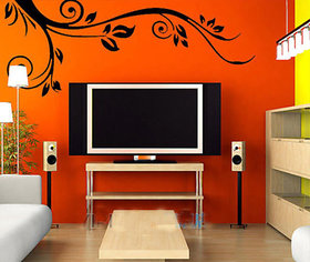Walltola Pvc Tv Background Black Wall Sticker