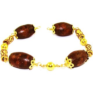 Factorywala Stylish and Fashionable Rudraksh Beads Bracelet for Women/Girl