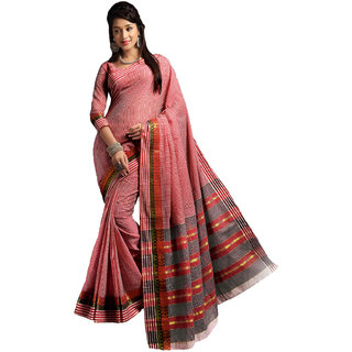 Melluha New Designer Red Color Party Festive Wear Cotton Saree With Blouse Piece