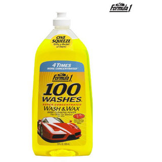Formula 1 Car/Bike 100 Washes Wash and Wax Shampoo-828ml