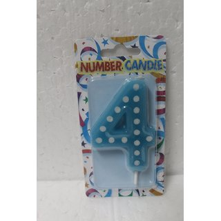 Indiagiftcart 4 No Blue Polka Dot Candle