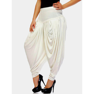 Women,White patiala Dhoti salwar