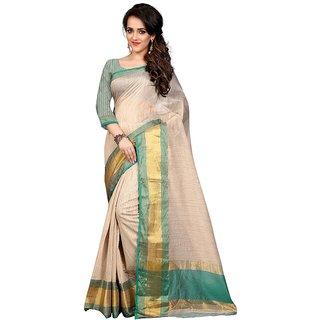 Kia Fashions haka bhagalpuri craem color saree